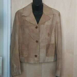 Stylish Tan Pelle Leather Jacket by A Snob, Italy